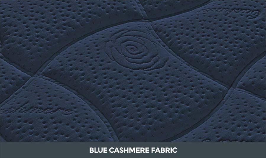 Blue Cashmere fabric Karat de Luxe Mattress Falomo