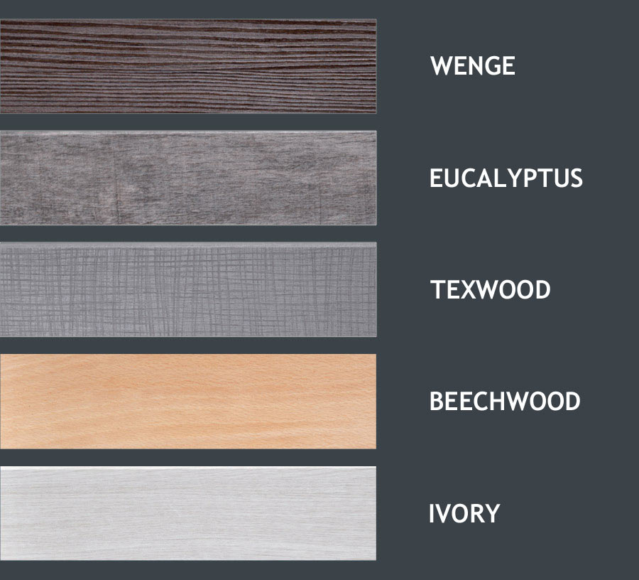 Colors available for framework finishing and bed legs