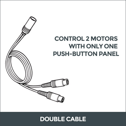 Control 2 motors with only one push-botton panel