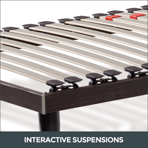 Bed base interactive suspensions