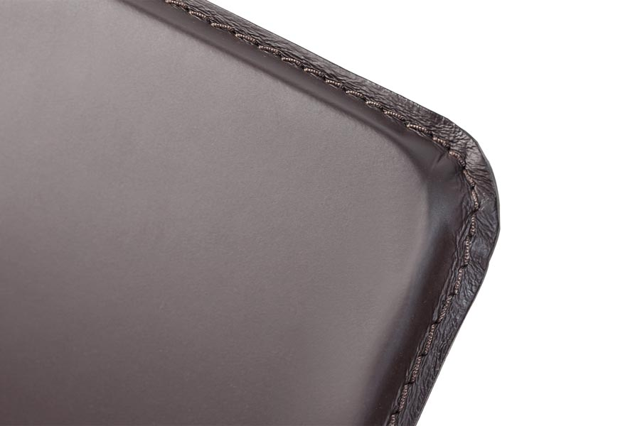 Detail of the Ego leather headboard