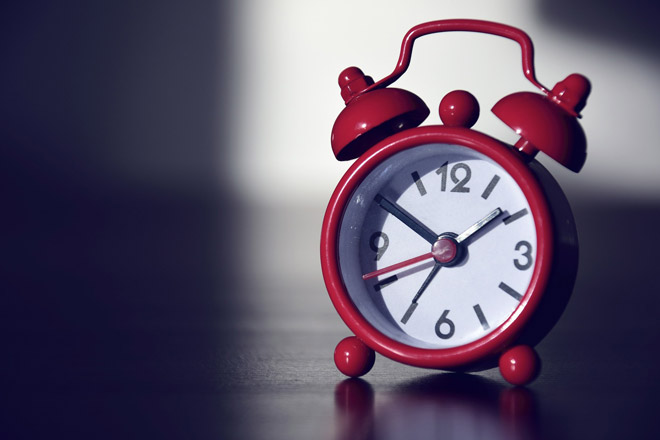 No alarm clocks that tick in your bedroom!