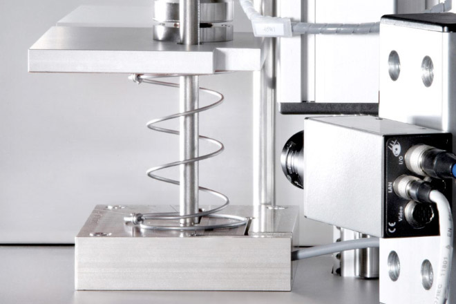 The springs are tested to ensure a perfect functionality