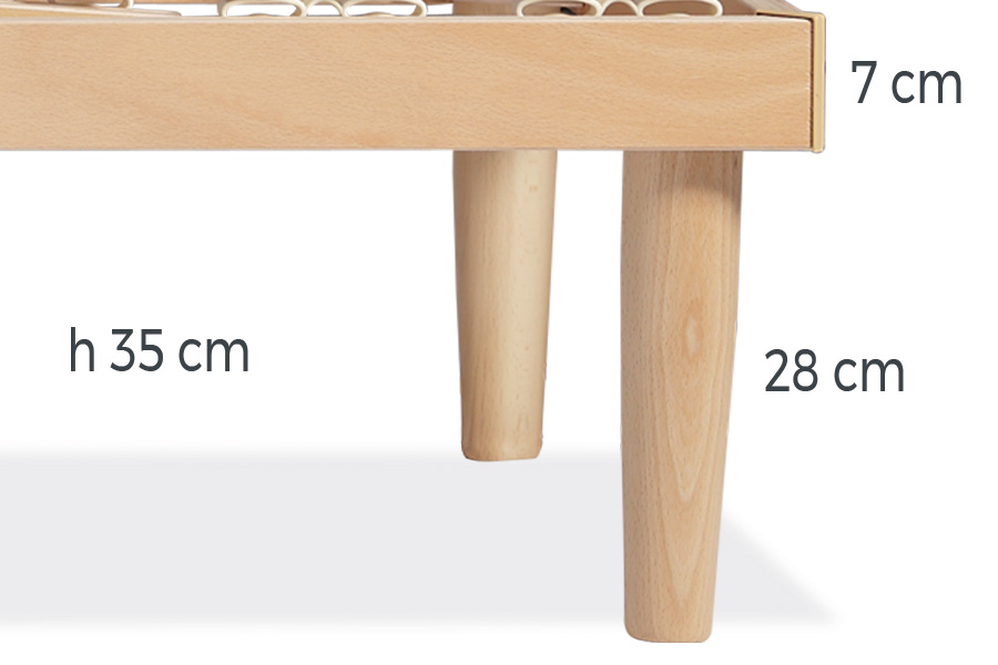 Optional legs for bed frame
