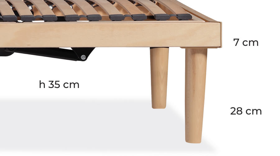 Optional legs for bed frame