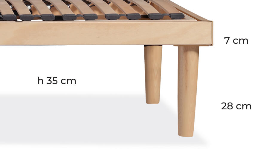 Optional bed frame legs