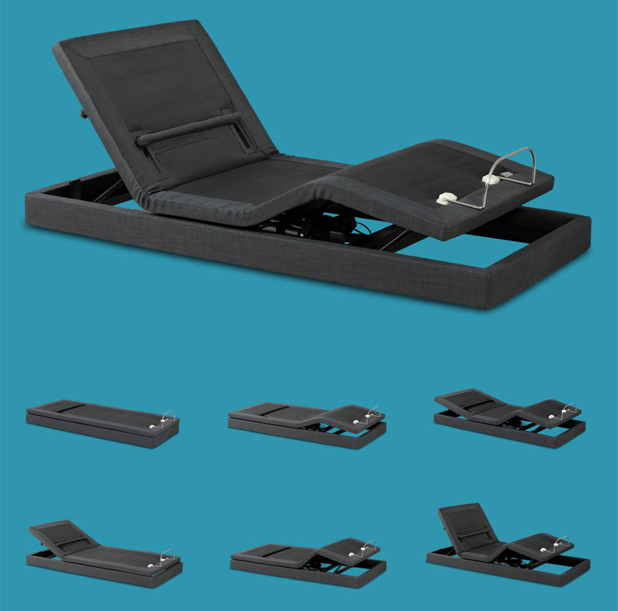 Hi_motion motorized bed: adjustable positions through touch remote control