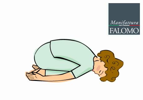 Yoga: balasana position to sleep better.
