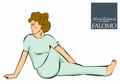 Yoga: marichyasana position to sleep better.