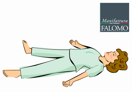Yoga: Sleep in savasana position also known as starfish position.