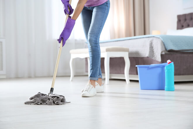 How to sanitize floors?